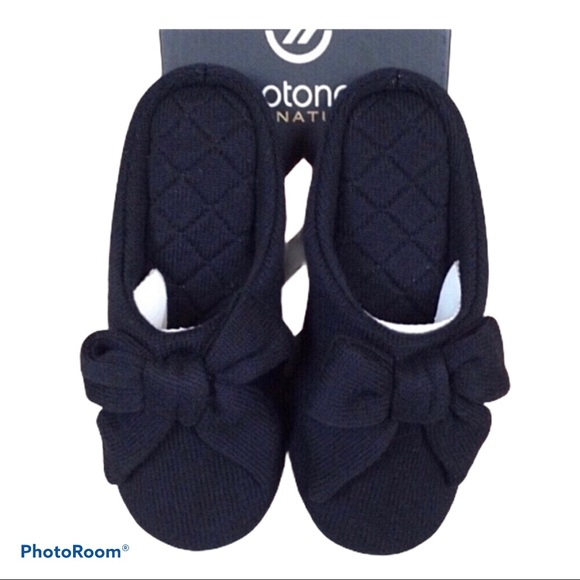 Isotoner Signature cashmere mule house slippers